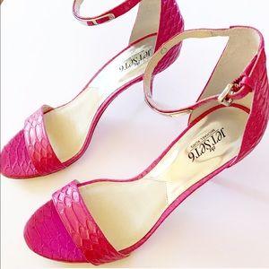 Michael Kors Shoes - Michael Kors JetSet6 Kristen Fuchsia Heels